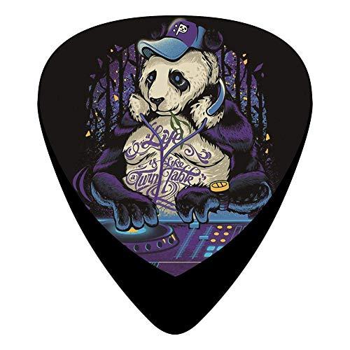 Panda Dj Music Guitar Picks Celluloid Medium Girls Complete Assorted 12 Pack