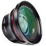 ORDRO Professionelle Camcorder Objektiv 37mm 0,39x HD Großes Weitwinkelobjektiv mit Makro für Videokamera (FS-1)
