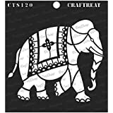 thecraftshop CrafTreat Stencil Indian Elephant (6X6-inch)