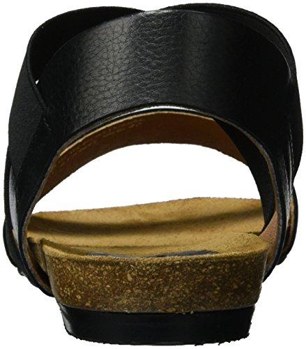 Bianco Elastic Cross Sandal Jfm17, Sandales  Bout ouvert femme Noir