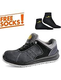 Zapatos de Seguridad Ultra-Ligeros para Hombres - SAFETOE 7331 Zapatillas Trabaja con Tus pies Bien protegidos Gris