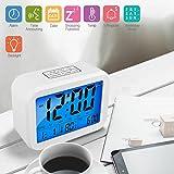 Digitale Wecker LED Digitale Wecker Projektionsuhren Anzeige von Uhrzeit, Datum, Woche, Temperatur und Hintergrundbeleuchtung (kleine Uhr)