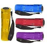Mini Taschenlampe 9 LED inklusive Batterien High Power LED Lampe