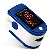 Finger-Oximeter Sauerstoffsättigung Detektor bedeutet Pulsoximeter Puls-Herzfrequenz-Monitor , Blue