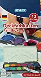 Stylex 28178 Deckfarbkasten, mehrfarbig, 23 x 12 x 2,5 cm