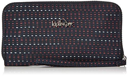 Kipling Alia, Portefeuilles femme, Multicolore (Dotted Lines), 15x24x45 cm (W x H x L)