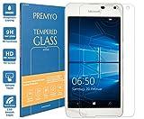 PREMYO Panzerglas für Microsoft Lumia 650 Schutzglas Display-Schutzfolie für Lumia 650 Blasenfrei HD-Klar 9H 2,5D Echt-Glas Folie kompatibel für Lumia 650 Gegen Kratzer Fingerabdrücke