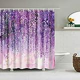 xkjymx Tapisserie Marmor Rosa Tapisserie Stoff Dekor Decke Bunte 3D Blumen waschen Dusche wasserdicht Dekor
