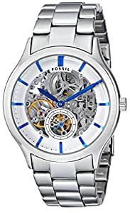Fossil Herren-Armbanduhr XL Ansel AnalogAutomatik Edelstahl ME3021