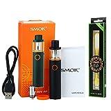 Auténtico SMOK Vape Pen 22 Kit, Batería incorporada 1650mAh, 2ml EU Tank TPD obediente, Kit de inicio de cigarrillo Pen Style E + Luz LED extra regalo - Negro