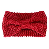 Miya Elegant Strick-Kopfband, warmes Strick Stirnband für Mädchen, Damen Haarband Geknotete Stirnband, Kopfband (Rot)