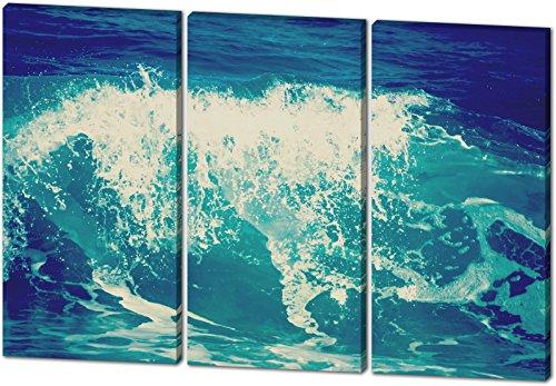 Kostüme Heaven's Angel (Die Welle, schönes und hochwertiges Leinwandbild zum Aufhängen in XXL - 3 Teiler mit 120cm x 80cm, echter Holzrahmen, effektiver Pigmentdruck, modernes Design für Ihr Büro oder)