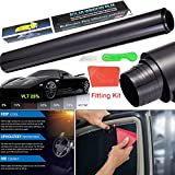 3M x 50cm Car Auto Van Limo Window Tint Film Reduce Sun Glare Universal Glass UV Shade Vinyl Film for Privacy and Heat Reduction Privacy Glass Window Door Tint Tinting Film Home Office Decor