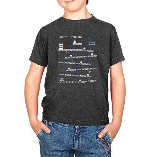 NERDO - Chewie Kong - Kinder T-Shirt, Größe XS, schwarz (Wario Kostüm Mädchen)