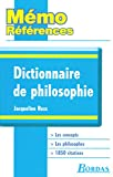 Mémo Références • Jacqueline Russ • Dictionnaire de Philosophie