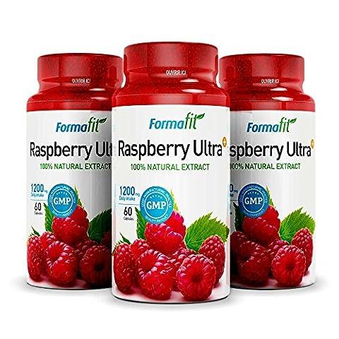 Wild Raspberry Ketone - Raspberry Ketone Ultra+ 1200mg (3 bouteilles x