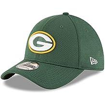 New Era Sideline Tech 39Thirty Grepac Otc - Cappello Linea Green Bay Packers da Uomo, colore Verde, taglia M-L