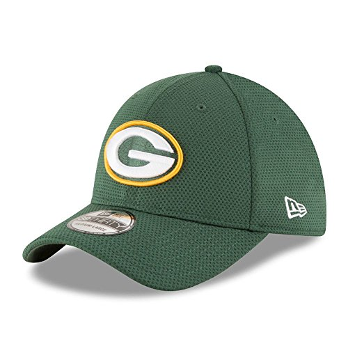 New Era Sideline Tech 39Thirty Grepac OTC - Schirmmütze Linie Green Bay Packers für Herren, Farbe Grün, Größe L-XL Green Baseball-kappe