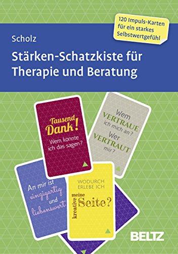 Stärken-Schatzkiste für Therapie und Beratung: 120 Karten mit 16-seitigem Booklet in stabiler Box, Kartenformat 5,9 x 9,2 cm (Beltz Therapiekarten)