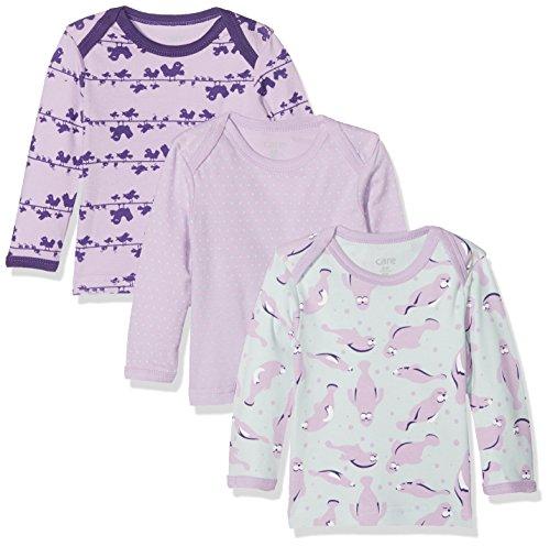 Care Baby-Mädchen Langarmshirt im 3er Pack Violett (Lavender 607), 3 Monate/62 cm 3er-Pack -
