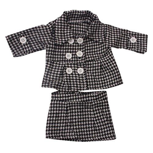 Gazechimp 11 Stück/ 4 Sets Puppen Kleidung Hosen Jacke Rock Hut Für 18 '' American Girl Dolls Party Dress Up Zubehör