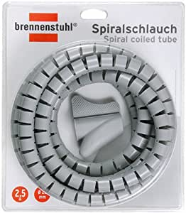 Brennenstuhl Spiralschlauch, Länge 2,5 m, durchmesser 20 mm, grau, 1164360