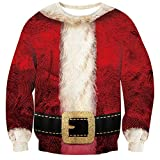 Loveternal Ladies Ugly Christmas Jumper 3D Xmas Pullover a Maniche Lunghe Maglione Natale XXL