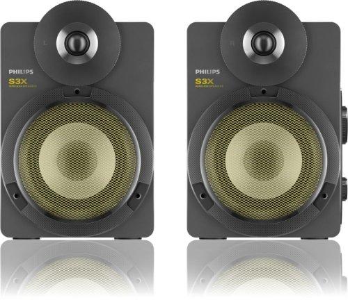 Philips BTS3000G/10 Enceintes stéréo sans fil Bluetooth Apt-X AAC avec basses profondes 30W Argent