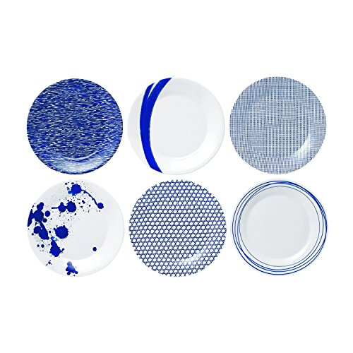 Royal Doulton 23cm Porzellan Pacific-Set, Blau, 6Stück (Hängen Royal Blau)