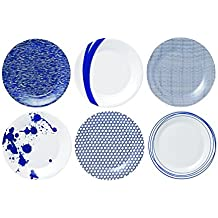 Royal Doulton 23cm Pacific de porcelana, 6unidades), color azul
