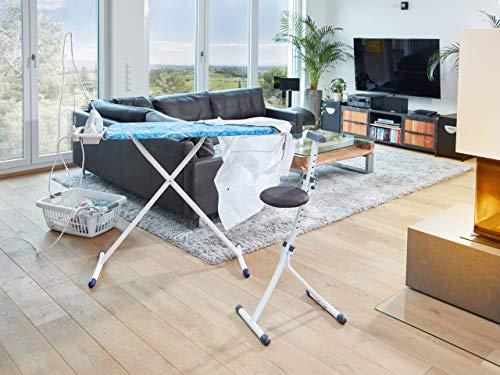 Leifheit 71310 - Silla Regulable, Color Blanco