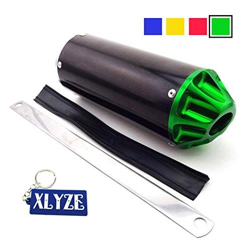 XLYZE Verde 28mm silenciador de escape de aluminio para chino 50cc 70cc 90cc 110cc 125cc XR50 CRF50 TTR KLX Pit Pro Dirt Bike
