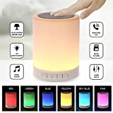ABlue Clipper Redclip Portable Wireless Bluetooth Music Speaker Smart Touch Sensor Lamp