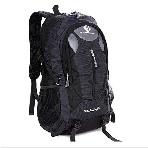 BM 30L l viaggio zaino in nylon maschio all'aperto sport zaini trekking impermeabili borse donna , Black Black
