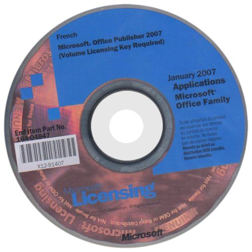 Microsoft Office Publisher 2007 - Support - volume - CD - Win - français