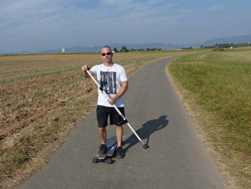 Onda Motion Longboard-Landpaddling-Stick 3-teilig aus Aluminium mit 1 Ersatzgummifuß, 4280000643650