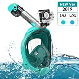 Snorkel Mask, Full Face Snorkeling Mask with Easy Breathing & 180° Panoramic Design