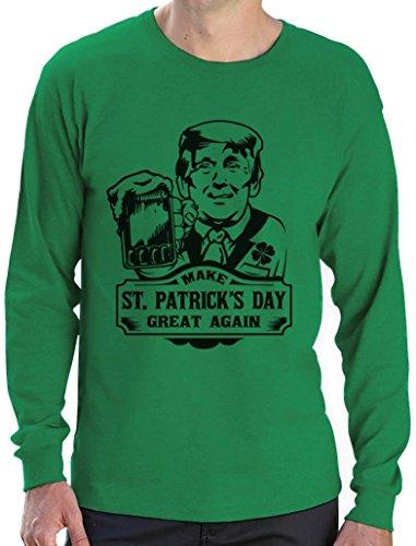 Make St. Patrick's Day Great Again Trump Langarm T-Shirt Grün