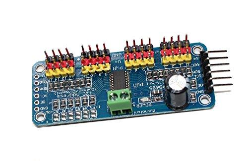 haoyishang pca968516-Kanal 12-bit PWM Servo Motor Driver IIC Schnittstelle Modul für Arduino Roboter Raspberry Pi Shield Modul - 2