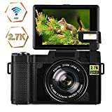 Digital Camera Vlogging Camera 24MP Ultra HD 2.7K WiFi Compact Camera 3.0 Inch