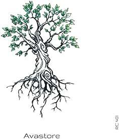 Tatuaje Temporal Árbol de la vida tatuaje efímero Árbol de ...