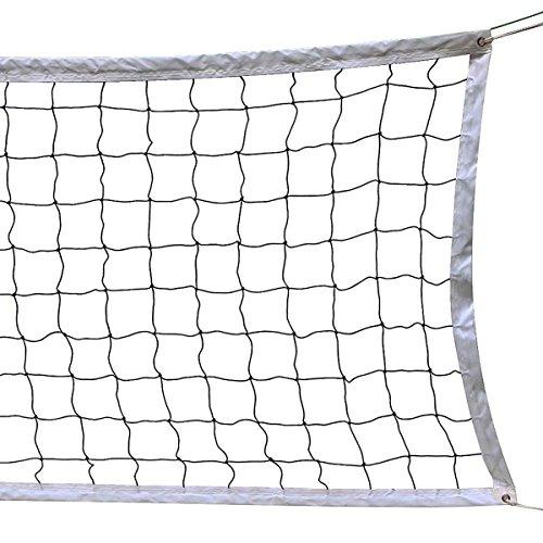 Volleyball Netz, 9.5M * 1 M mit Stahlseil Seil Faltbare Offizielle Standardgröße Indoor Outdoor Garten Strand Sportgerät