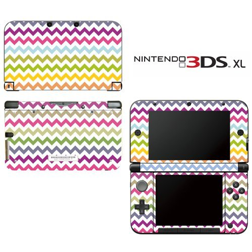 chevron-rainbow-color-pattern-decorative-video-game-decal-cover-skin-protector-for-nintendo-3ds-xl-b