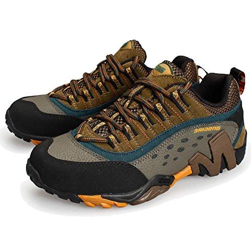 maschi Scarpe da trekking all'aperto Scarpe da uomo Scarpe da passeggio a piedi slittata indossare Vera pelle Scarpe sportive autunnali e invernali Scarpe stringate Scarpe oxford Brown