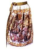 Schürzenliesl,Designer Dirndl Schürze Karusellpferde, Pailettenband in Flieder (70cm)