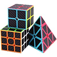 Roxenda Speed Magic Cube Professional Classic Puzzle Twist Toy Black Edge World Record Race