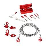 Sharplace Anhängerkupplung Haken Schackles Zubehör Set für 1/10 Axial SCX10 RC4WD D90 D110 TF2 CC01 RC Auto