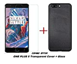 Shoppingmonk [Carbon Fibre Series] [Accent Texture] [Shock-Absorption] Hybrid Carbon Fiber Design [Slim Fit & Thin] Case Cover for OnePlus 5 / One Plus 5 - Black + Premium 2.5D Tempered Glass screen Protector Amazon Rs. 299
