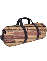 Snoogg Bricks On The Wall Gym Bag, Sports Duffel Bag, Fitness Workout Yoga Bag For Men Women With Compartment