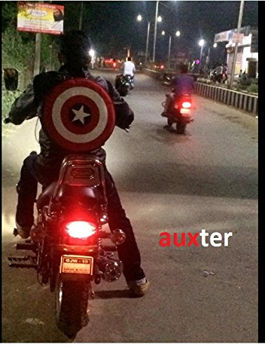 Best boys backpack in India 2020 Auxter Red Polyester 20L Avengers Captain America Shield School Backpack Image 7